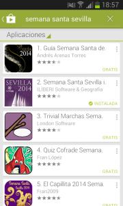 Aplicaciones Android relacionadas con la Semana Santa de Sevilla