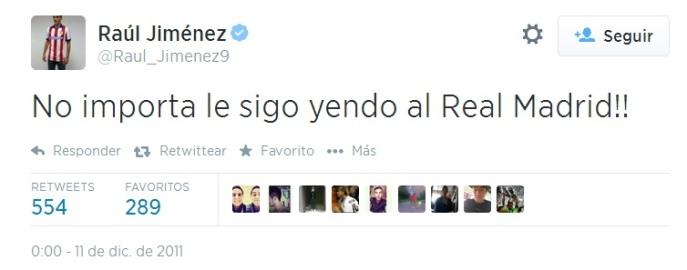 Raúl Jiménez Twitter